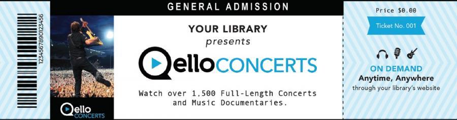 Qello Concerts - verdens største samling af fuldlængde koncerter og musikdokumentarer.