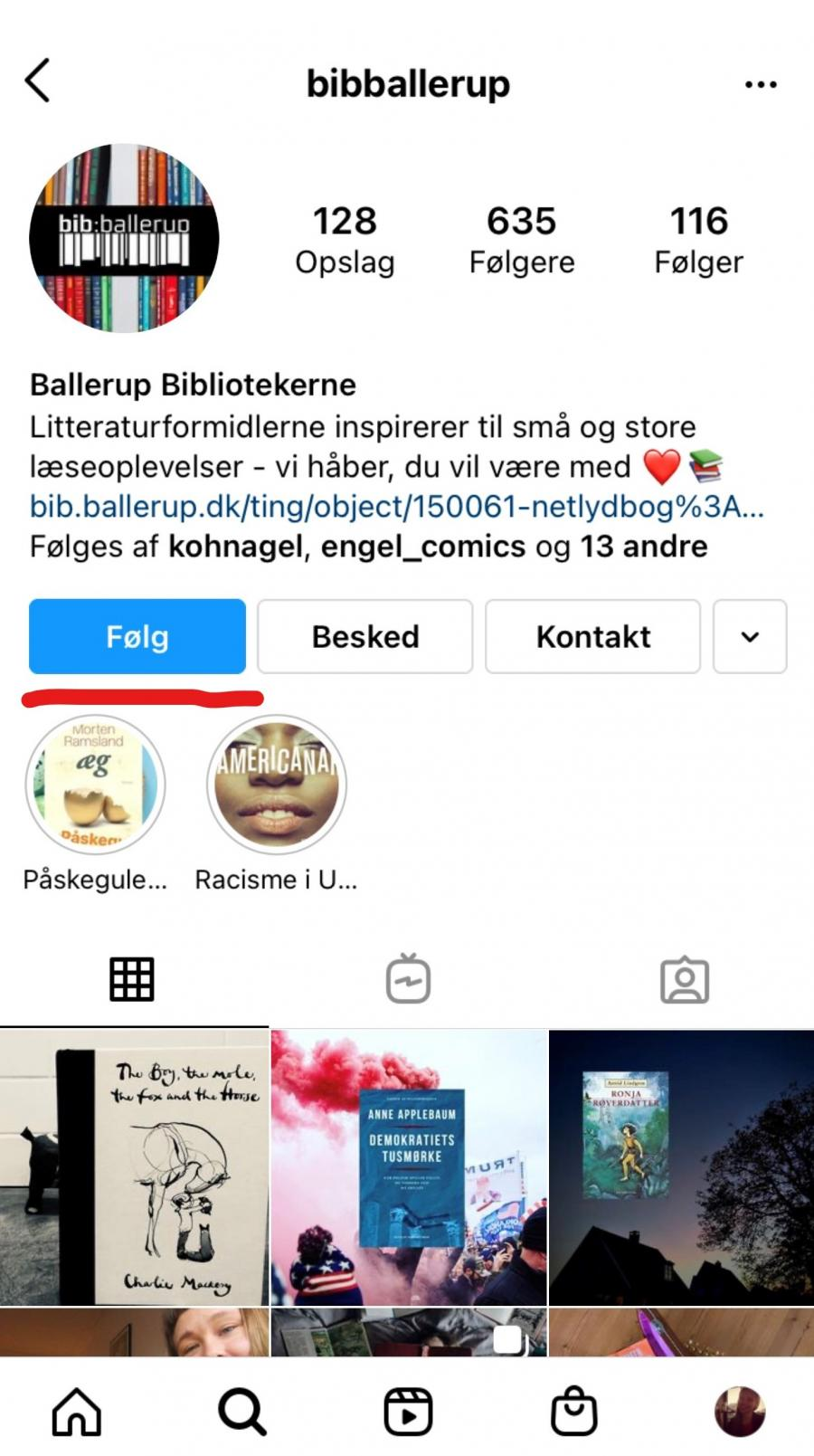 Følg en profil