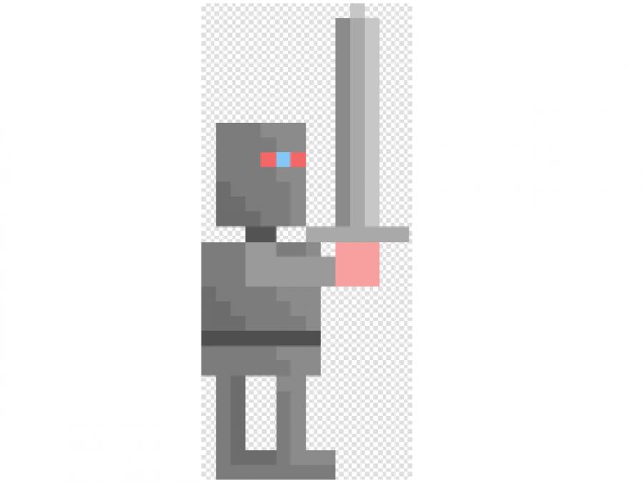 Billede af pixelfigur