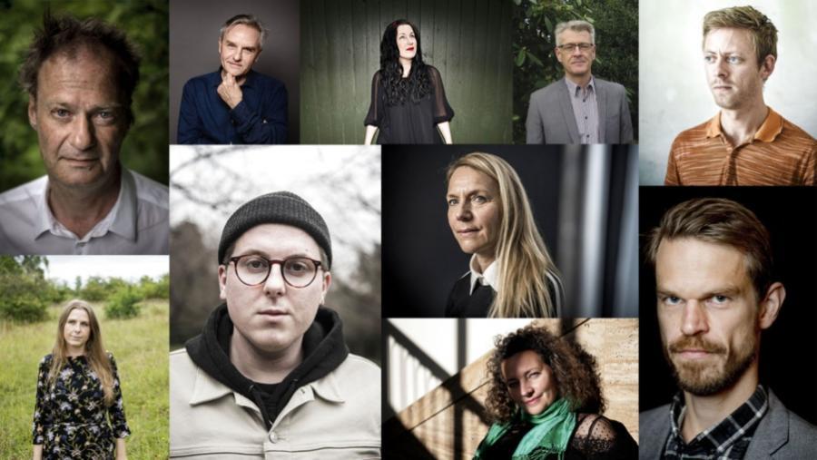 billeder af de nominerede til læsernes bogpris