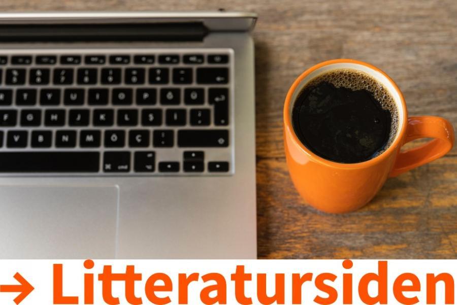Computerskærm og kaffekop
