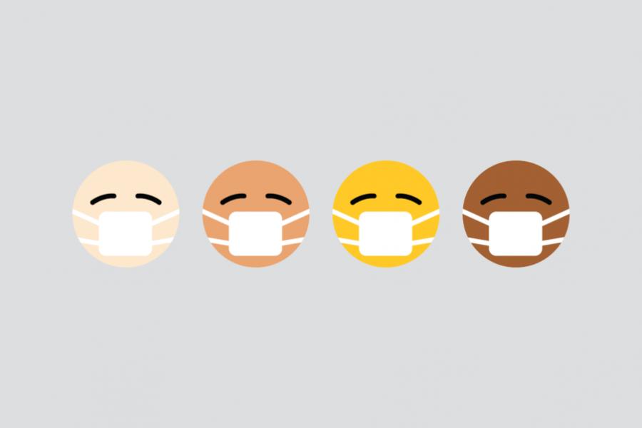 Emojis med mundbind