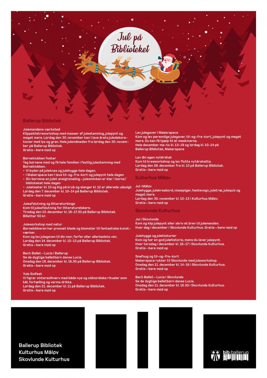 plakat med juletilbud